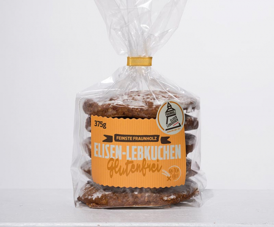 Elisen gingerbread sugar glazed on glutenfree wafer
