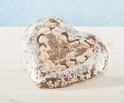 Riesen Elisen-Lebkuchen Zuckerglasiert in Herzform